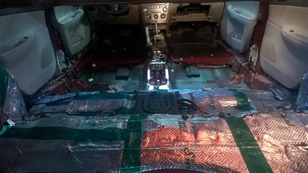 Как шумовать машину своими руками 9